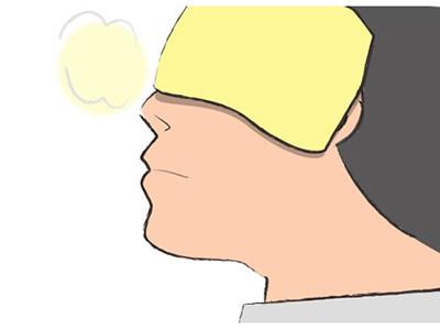 鼻のつけ根を温める